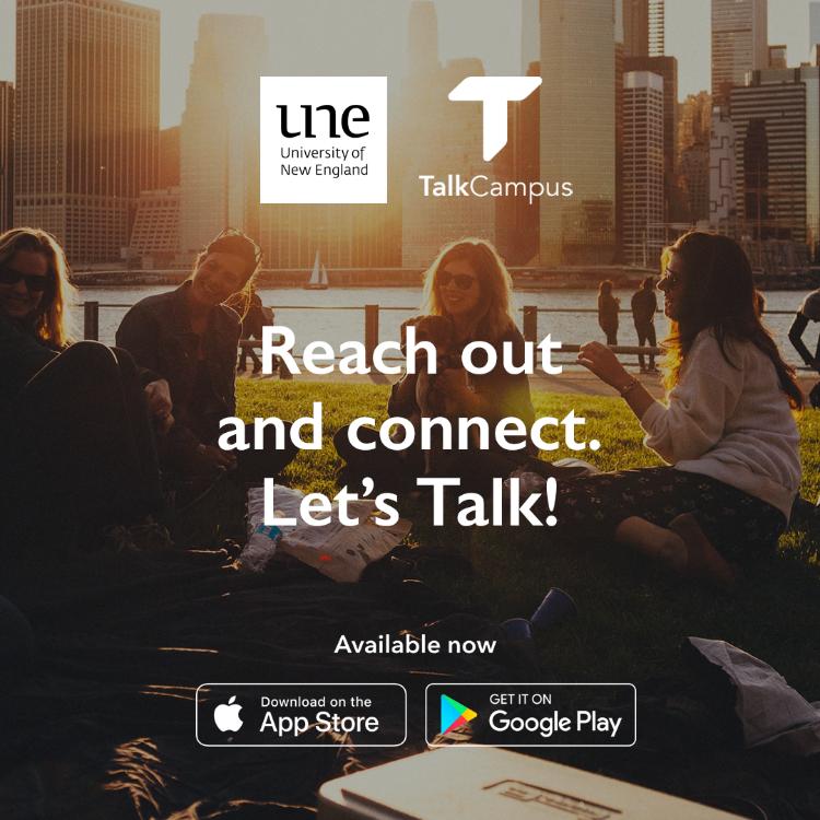 UNE TalkCampus poster