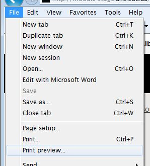 Select Print Preview
