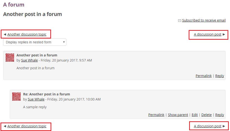 Forum navigation