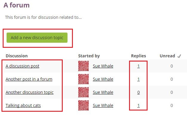 discussion listing