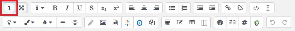 Atto editor toolbar