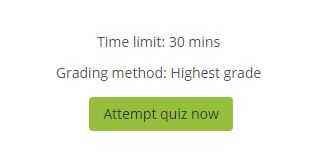Time limits are displayed on the quiz main page