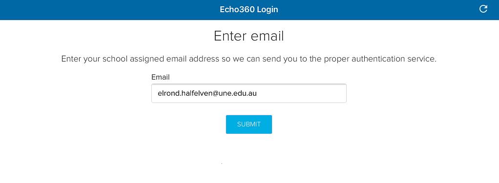ECHO360 app login