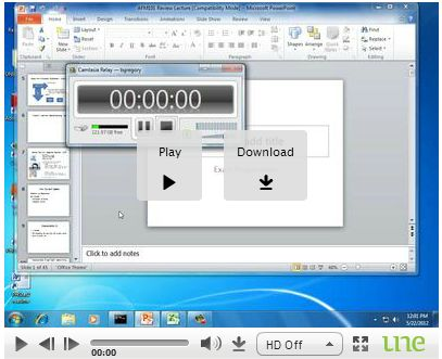View of a video with the download option