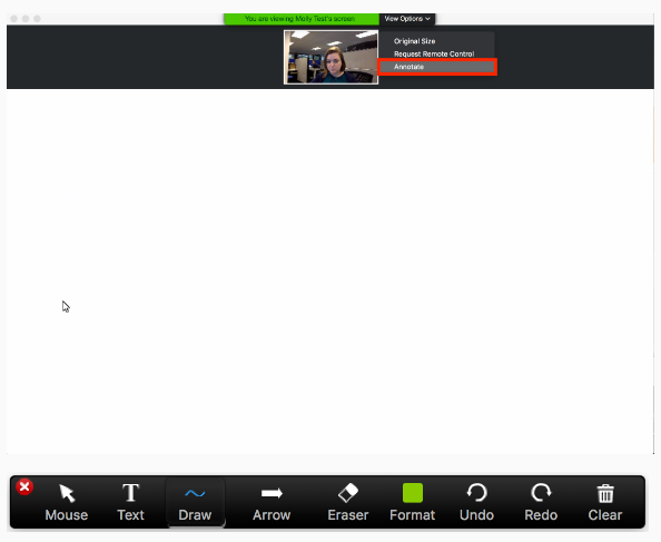 Image of annotate screen