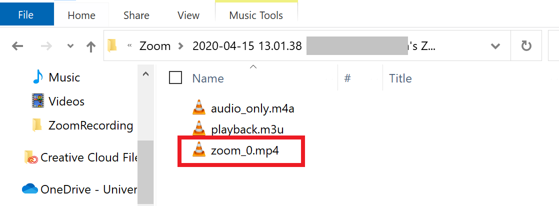 Zoom file location