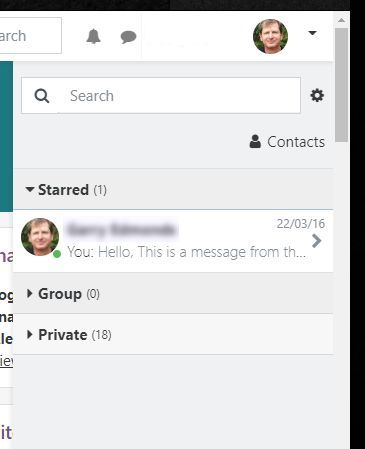 The messaging pane